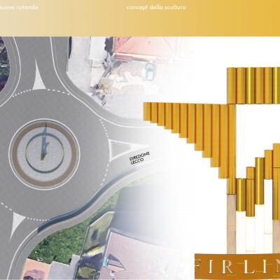 Nuova rotatoria stradale a Calco -LC-